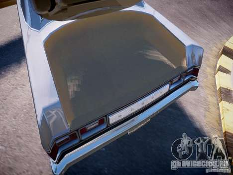 Dodge Dart 1975 для GTA 4 вид изнутри
