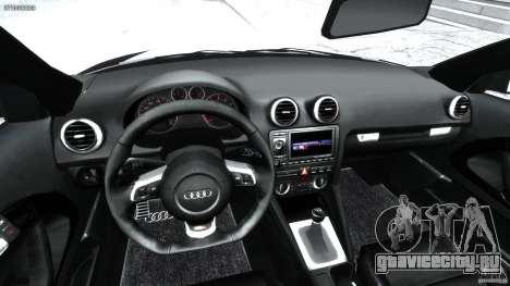 Audi S3 для GTA 4 вид сзади
