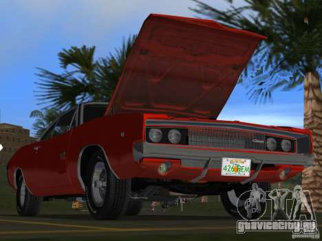 Dodge Charger 426 R/T 1968 v1.0 для GTA Vice City салон