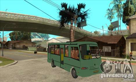 ПАЗ 3203 для GTA San Andreas вид сзади