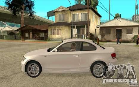 BMW 135i Coupe для GTA San Andreas вид сзади слева