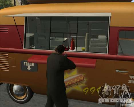 Volkswagen Transporter T1 Hot Dog для GTA San Andreas вид справа