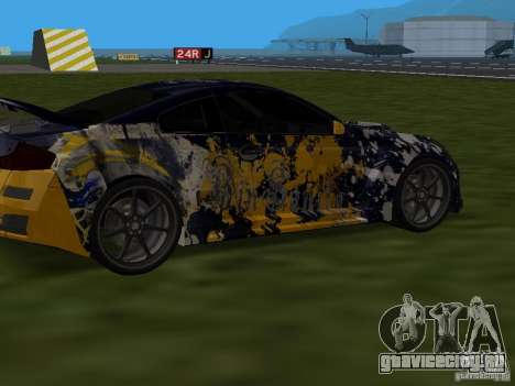 Infinity G35 Binsanity для GTA San Andreas вид сзади слева