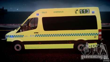 Mercedes-Benz Sprinter PK731 Ambulance [ELS] для GTA 4 двигатель
