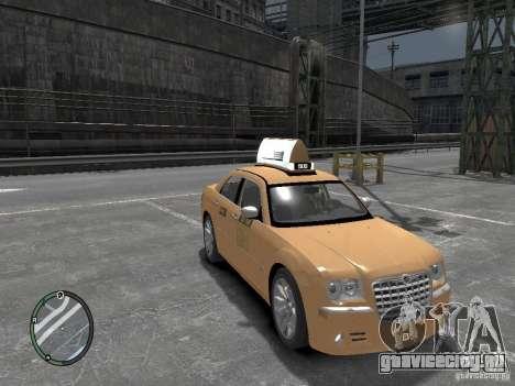 Chrysler 300c Taxi v.2.0 для GTA 4 вид справа