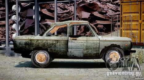 ЗАЗ 968М Побитый для GTA 4 вид сзади