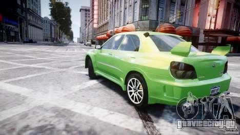 Subaru Impreza STI Wide Body для GTA 4 вид снизу