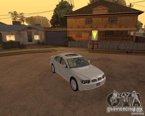 BMW 760I 2002 для GTA San Andreas вид справа