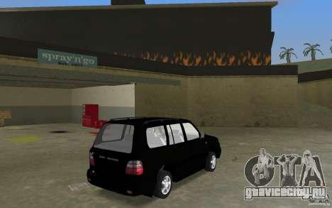 Toyota Land Cruiser 100 VX V8 для GTA Vice City вид сзади слева