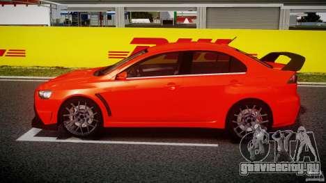 Mitsubishi Lancer Evo X 2011 для GTA 4 вид слева