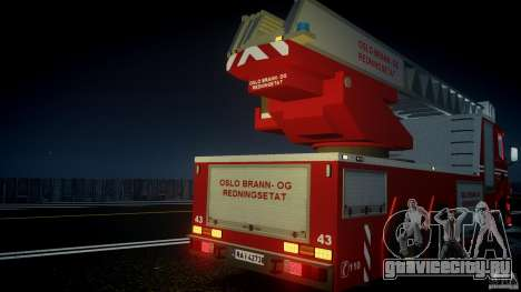 Scania Fire Ladder v1.1 Emerglights blue [ELS] для GTA 4 салон