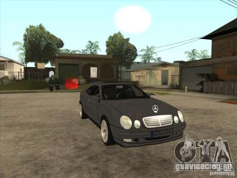 Mercedes-Benz CLK320 Coupe для GTA San Andreas вид сзади