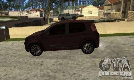 Fiat Novo Uno Sporting для GTA San Andreas вид справа