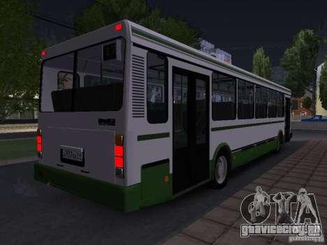 ЛиАЗ 5256 Пригородный для GTA San Andreas вид сзади слева