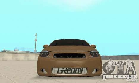 Toyota Scion tC Edited для GTA San Andreas вид сзади