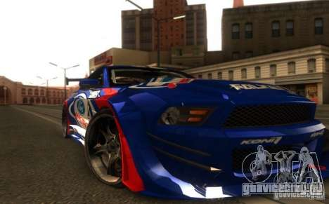Ford Mustang Shelby GT500 V1.0 для GTA San Andreas вид сзади слева