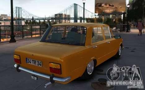 Fiat 124 для GTA 4 вид слева