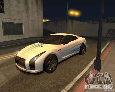 Nissan GT-R Pronto для GTA San Andreas вид изнутри