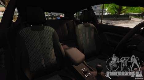 BMW M135i 2013 для GTA 4 вид изнутри
