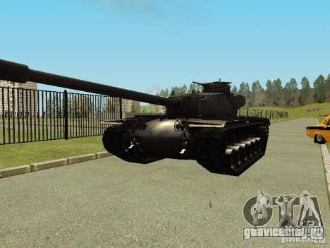 Танк T-110E5 для GTA San Andreas вид сзади