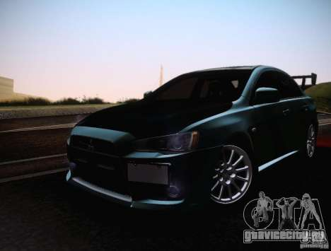 Mitsubishi Lancer Evolution Drift Edition для GTA San Andreas вид изнутри