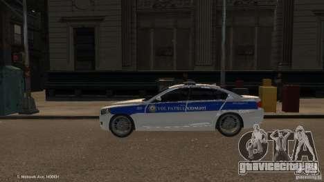 BMW 550i Azeri Police YPX для GTA 4 вид слева