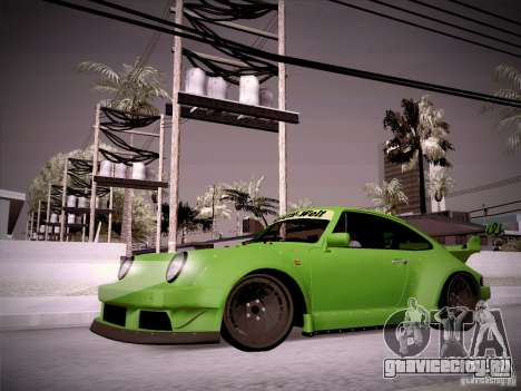 Porsche 911 Turbo RWB Pandora One для GTA San Andreas вид слева