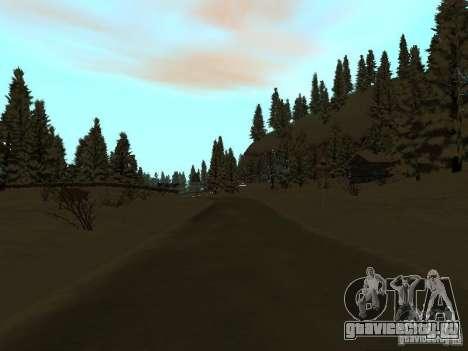 Зимняя трасса для GTA San Andreas восьмой скриншот