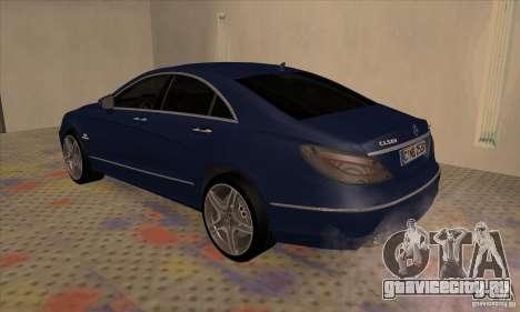 Mercedes-Benz CLS63 AMG 2012 для GTA San Andreas вид справа