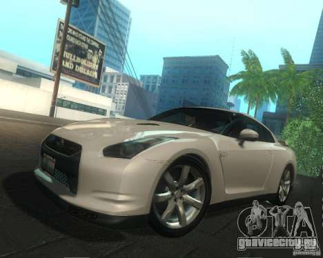 Nissan GTR R35 Spec-V 2010 Stock Wheels для GTA San Andreas двигатель