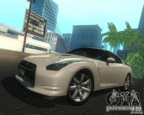 Nissan GTR R35 Spec-V 2010 Stock Wheels для GTA San Andreas двигатель