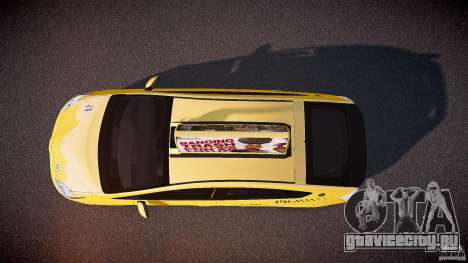 Toyota Prius LCC Taxi 2011 для GTA 4 вид справа