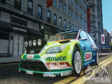 Ford Focus RS WRC для GTA 4 вид сверху