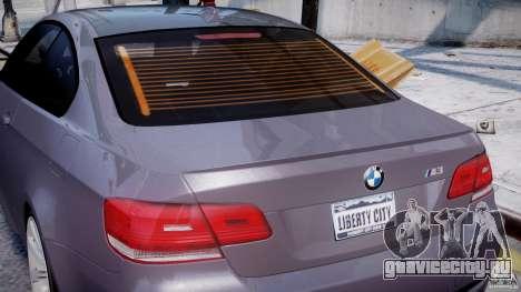BMW M3 E92 stock для GTA 4 колёса