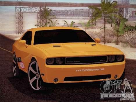 Dodge Challenger SRT8 2010 для GTA San Andreas вид изнутри