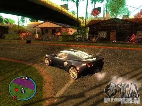 Lotus Exige - Stock для GTA San Andreas вид справа