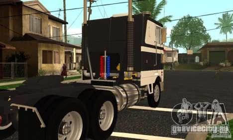 Peterbilt 362 Cabover для GTA San Andreas вид справа