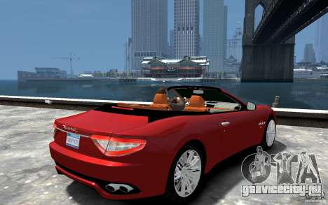 Maserati GranCabrio для GTA 4 вид справа