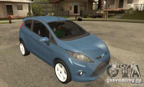 Ford Fiesta Zetec S 2009 для GTA San Andreas вид сзади