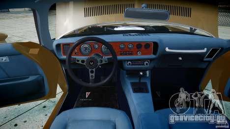 Pontiac Firebird 1970 для GTA 4 вид сбоку