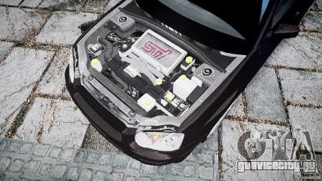 Subaru Impreza v2 для GTA 4 вид сзади