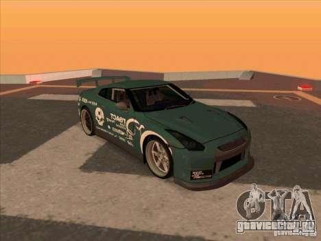 Nissan GT-R R35 rEACT для GTA San Andreas
