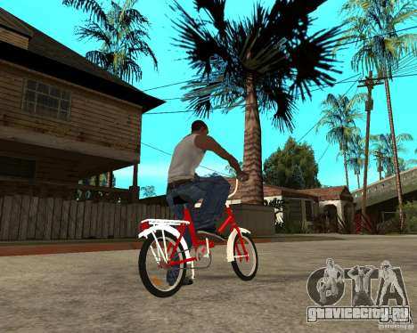 Велосипед GTA SA Tair Bike для GTA San Andreas вид сзади слева