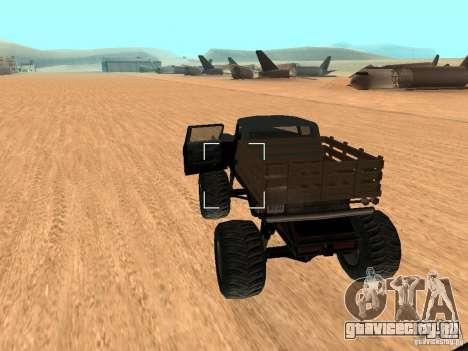 Walton Monster для GTA San Andreas вид сзади слева