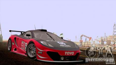McLaren MP4-12C Speedhunters Edition для GTA San Andreas вид изнутри