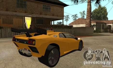 Lamborghini Diablo GT-R для GTA San Andreas вид справа