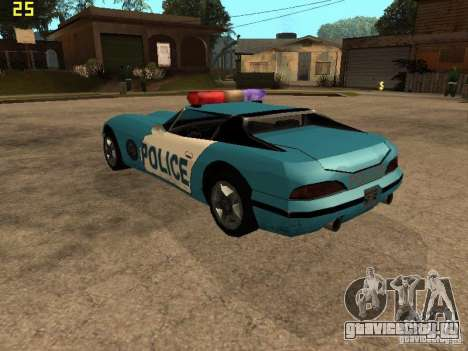 Banshee Police San Andreas для GTA San Andreas вид слева