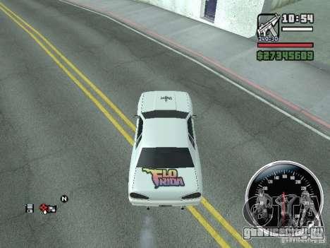 Винил для Elegy для GTA San Andreas вид сзади слева