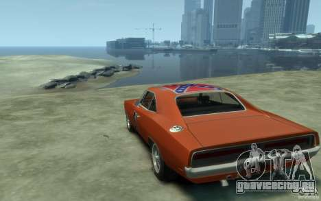 Dodge Charger General Lee v1.1 для GTA 4 вид сзади слева