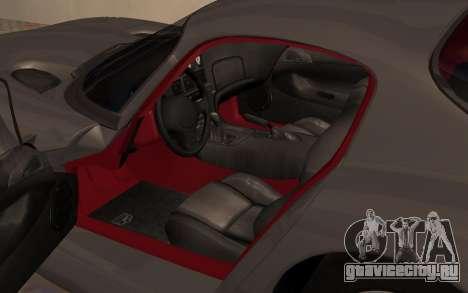 Dodge Viper GTS Tunable для GTA San Andreas вид сзади